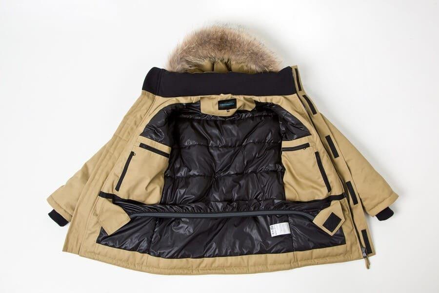 Ветрозащитная юбка в зимней куртке