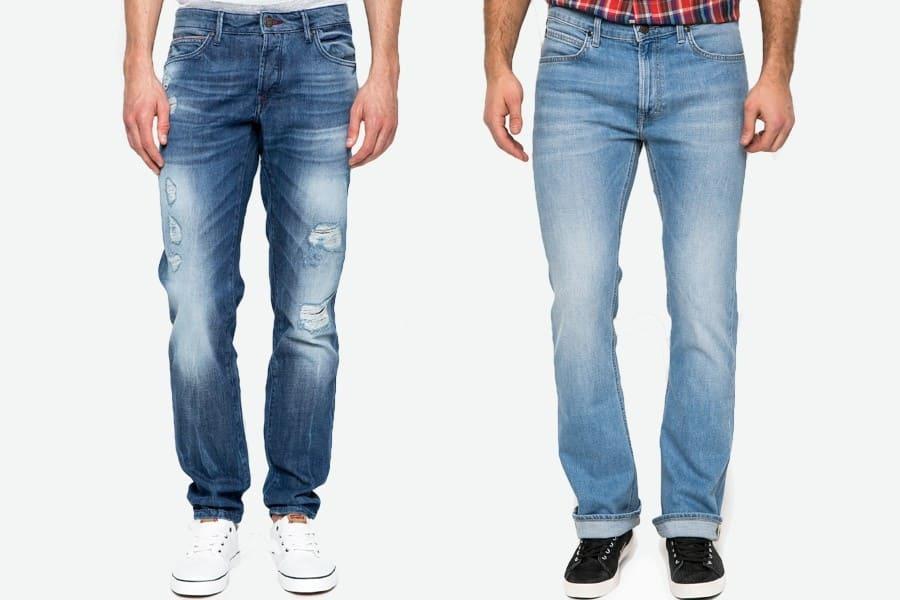 Модные мужские джинсы: в заплатках и дырочках